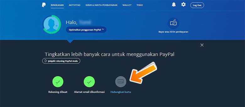 Step 1 Cara Menghubungkan Kartu Kredit (Verifikasi Kartu) di PayPal