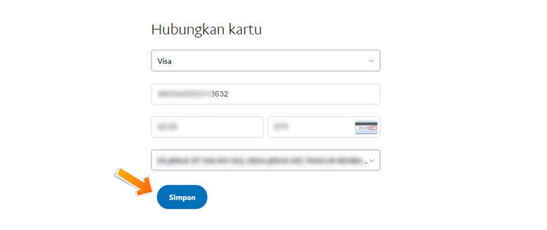 Step 2 Memasukkan Informasi Kartu Kredit