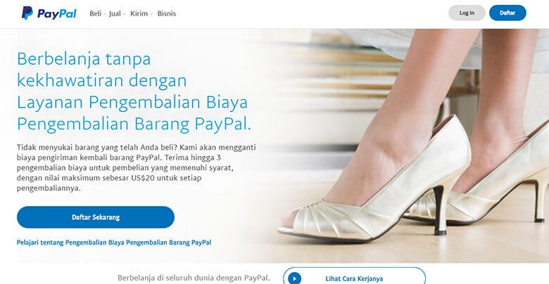 Step 1 Cara membuat akun PayPal yang benar