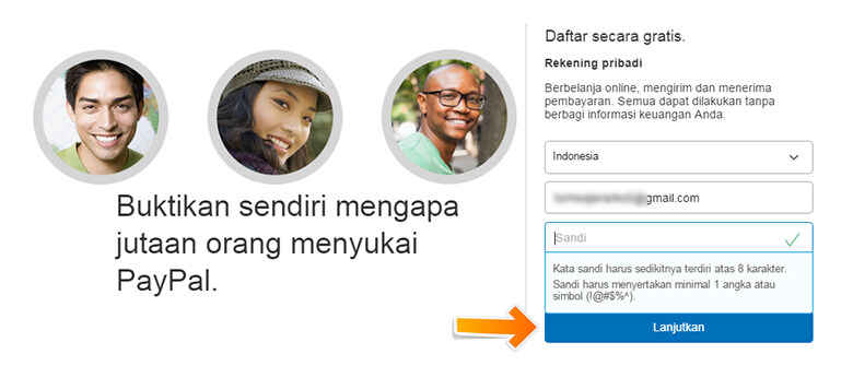 Step 3 Memasukkan Email dan Password