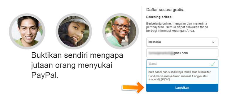 Step 3 Memasukkan Email dan Password