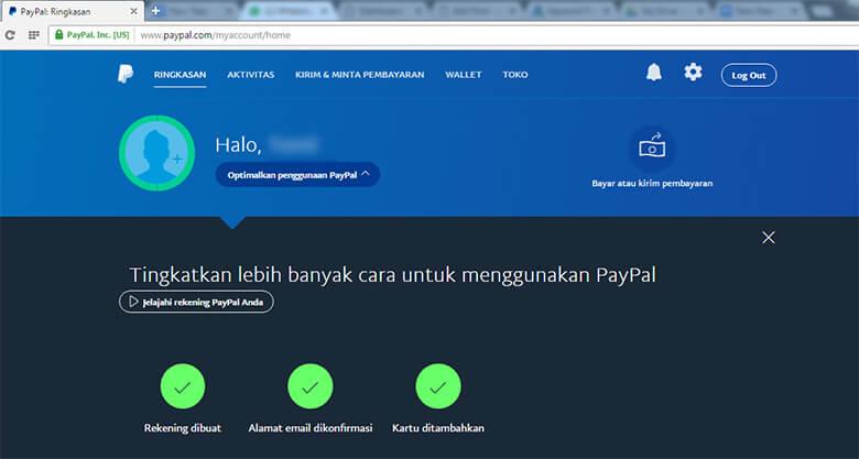 Cara Verifikasi Akun PayPal (Menambahkan Kartu Kredit atau VCC)