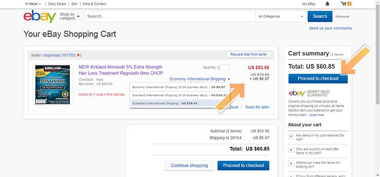 eBay Shopping Cart | Keranjang Belanja eBay