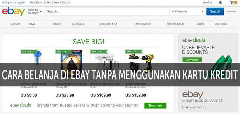 Cara Belanja di eBay tanpa menggunakan Kartu Kredit
