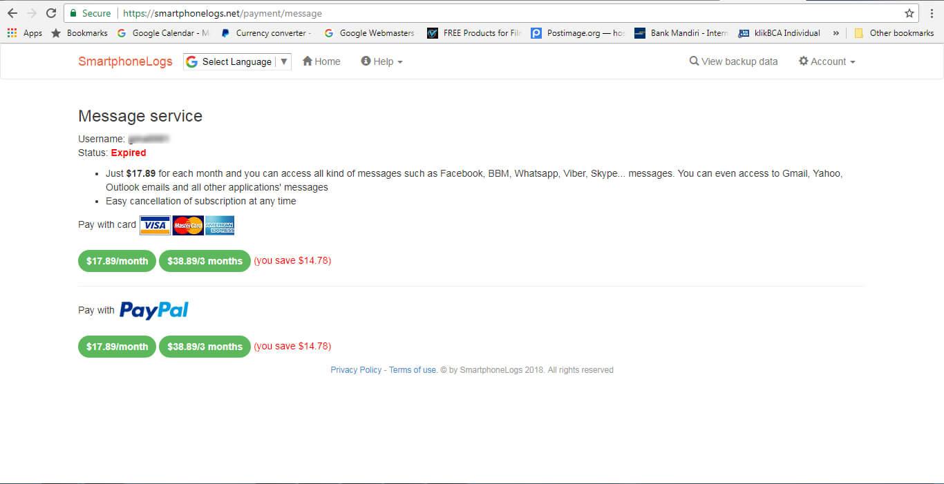Jasa Pembayaran PayPal Smartphonelogs (PhoneBackup)
