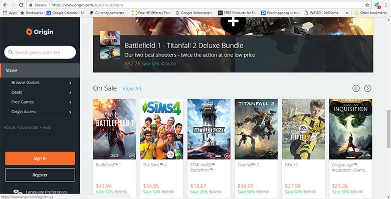 Beli Game Original dari EA ORIGIN dengan Menggunakan Jasa Pembayaran
