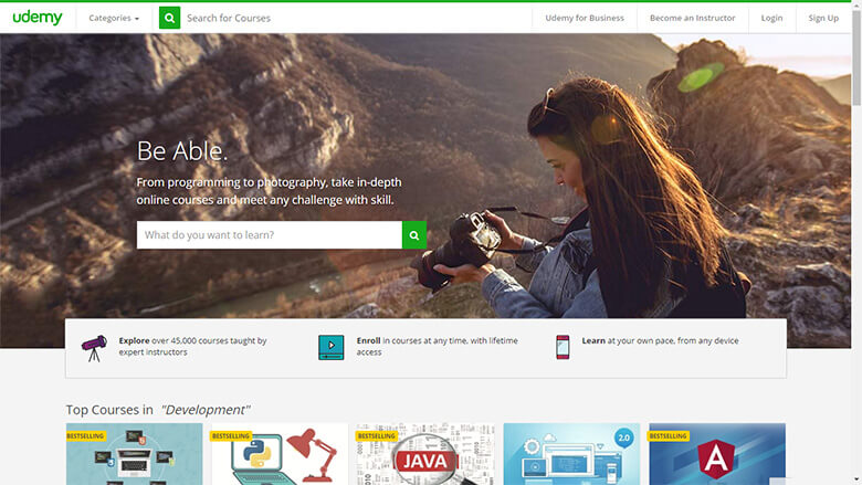 Udemy : Kursus online berkualitas dan terjangkau