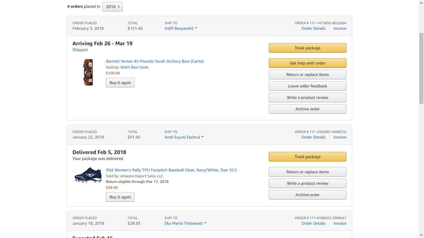 Jasa Pembayaran / Order / Pembelian Amazon.com