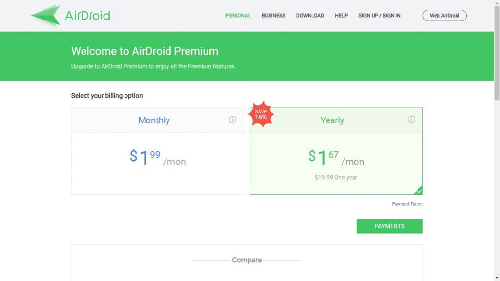Airdroid Pricing