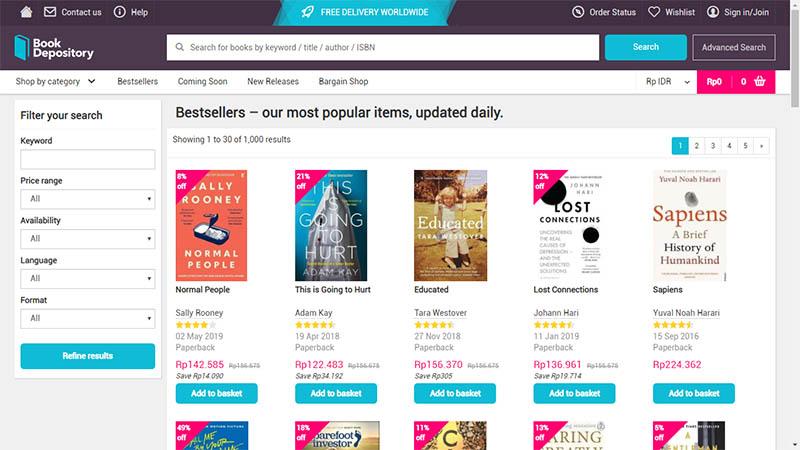 Beli buku di Book Depository Free Ongkir dengan Jasa Pembayaran