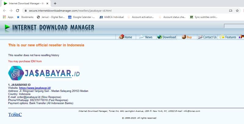 IDM Reseller Page Jasabayar ID