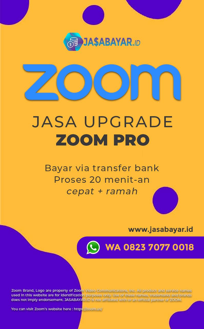 Jasa Pembayaran Upgrade Zoom Pro